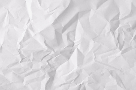 Texture crumpled sheet of white paper. Horizontal composition