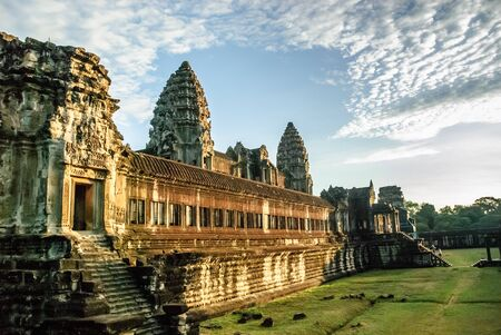 Inner temple complex at Angkor Wat, Cambodia. Stok Fotoğraf