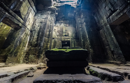 Inside the Preah Khan temple complex in Angkor, Cambodia.