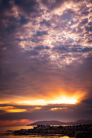 A sunset in Shell Beach, California.