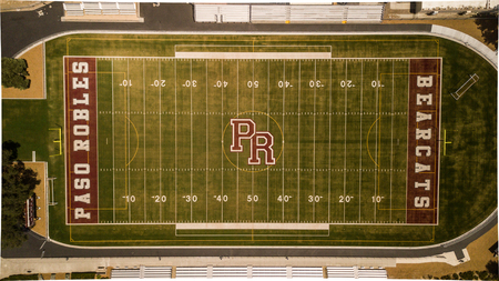Football field at Flamson Middle School. Paso Robles, CA. Editöryel