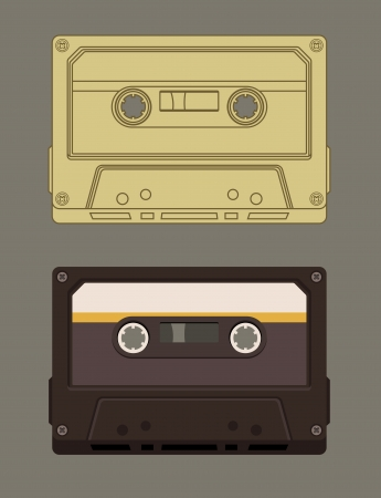Old-fashioned music cassette Illustration