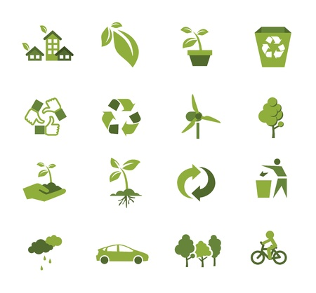 Green Ecology icon Stock Vector - 20472332