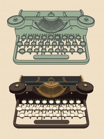 typewriter: M�quina de escribir de la vendimia