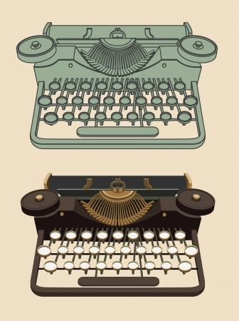Weinlese Schreibmaschine