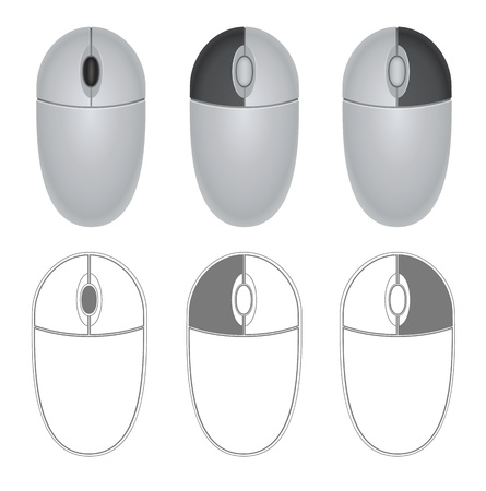 indication: Illustration of mouse with different buttons indication
