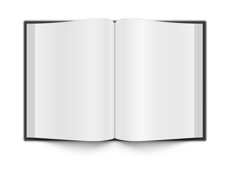 Puste strony książki na białym tle z cieniem EPS 10 W pełni przejrzyste Wszelkie tła mogą być wykorzystane