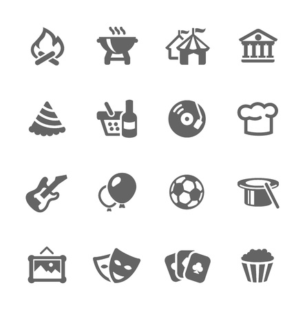 fun festival: Simple set of events related vector icons for your design and application Illustration