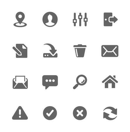 Set of most used interface icons Stock Vector - 20776761
