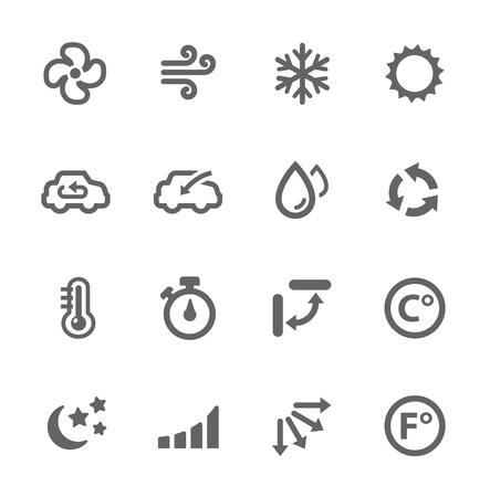 aire acondicionado: Simple conjunto de iconos vectoriales relacionados de aire acondicionado para su diseño