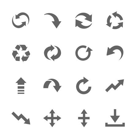 Prosty zestaw ikon związanych z interfejsu Strzałki Ilustracja