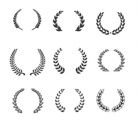 Design-Element - Lorbeer und Kränze