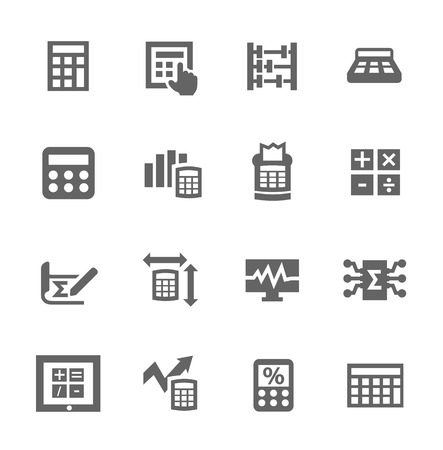 accounting design: Simple set of calculation related vector icons for your design