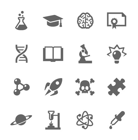Simple set of Science related vector icons for your design  Illustration