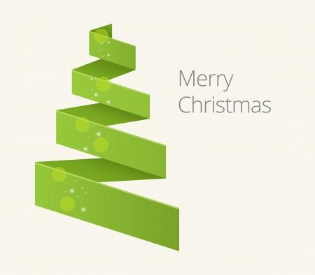 Simple flat chrismas tree illustration for you design