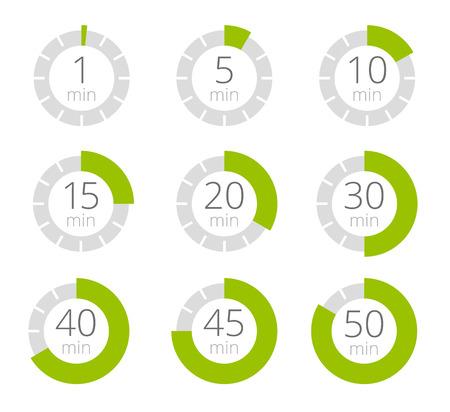 Zestaw prostych zegarów Zestaw dziewięciu elementów