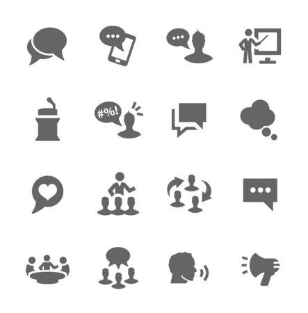 Prosty zestaw ikon wektorowych komunikacji związane dla swojego projektu.