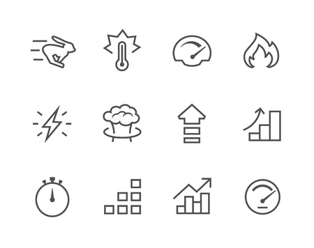 Simple Icon set related to Performance Иллюстрация