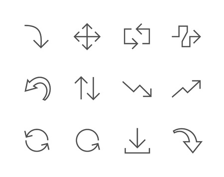 rebuild: Simple Icon set related to Interface Arrows
