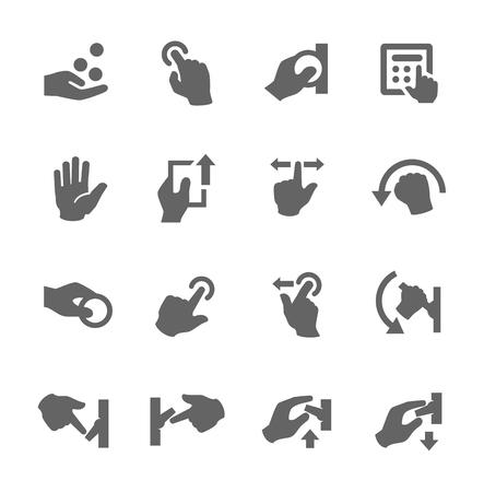 Prosty zestaw ikon wektorowych ręce związane do projektowania Ilustracja