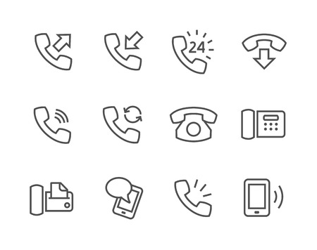 Simple set of phones related vector icons for your site or application.