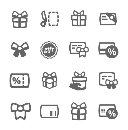 Simple set of gift cards related vector icons for your design