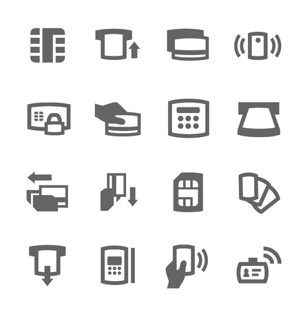 Simple set of cards related vector icons for your design