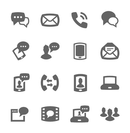 Simple set of communication related vector icons for your design