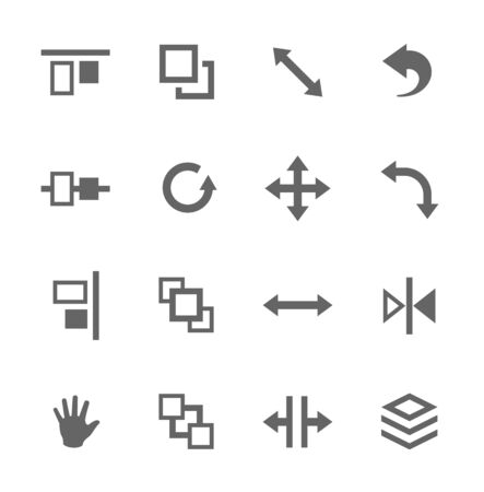 marge: Simple set of layout related vector icons for your design Illustration