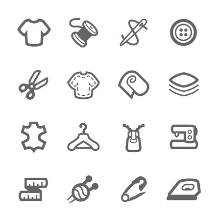 Simple set of tailoring related vector icons for your design