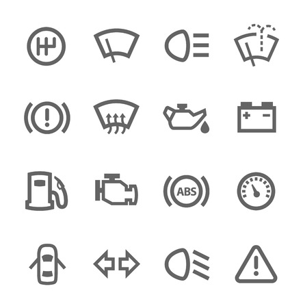 odometer: Simple set of auto related vector icons for your design Illustration