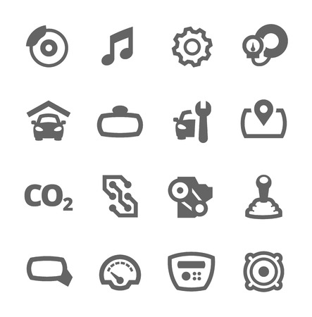 breakers: Simple set of auto related vector icons for your design Illustration