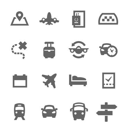Prosty zestaw ikon wektorowych podróży związanych dla swojego projektu