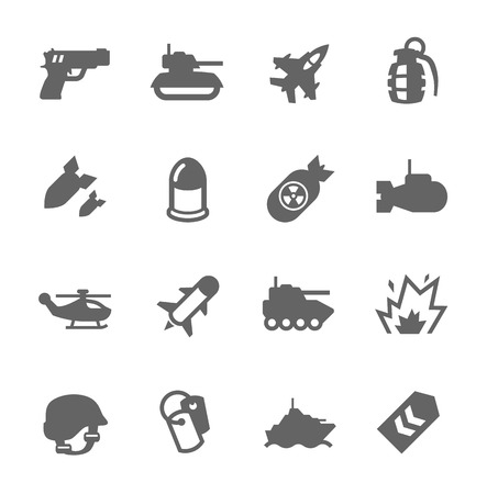 military and war icons: Simple Set of Military Related Vector Icons For Your Design