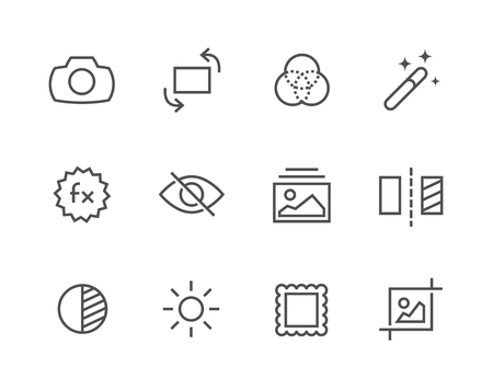 image editing: Simple Set of Image Editing Related Vector Icons for Your Design