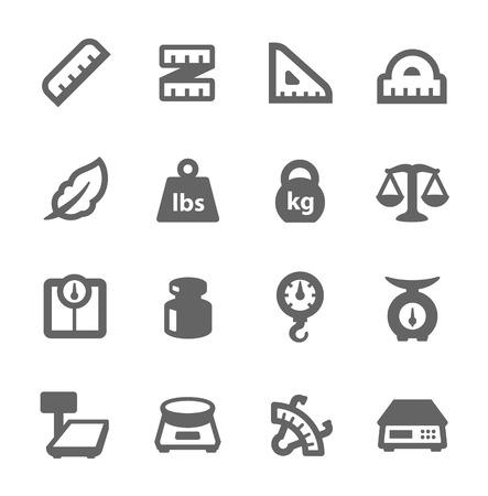 signos de pesos: Escalas y Gobernantes Iconos Vectores