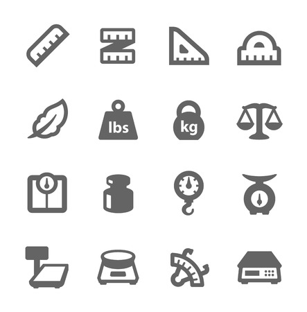 Scales and Rulers Icons Vector