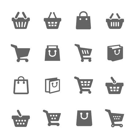 쇼핑 가방과 카트