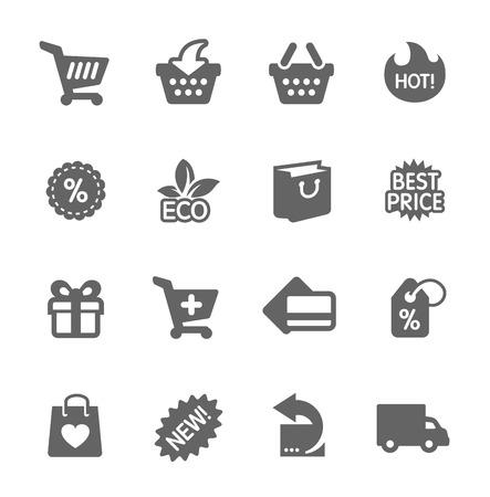 Shopping Icons gesetzt Standard-Bild - 29686523