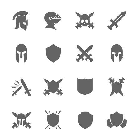 sword fight: War icons Illustration