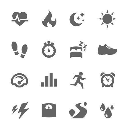 Activity Tracking Icons Illustration