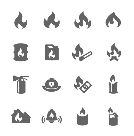 Fire Icons Stock Vector - 32835869