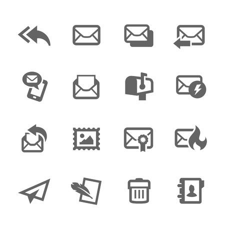 Mail pictogrammen