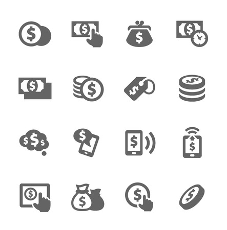 stock clip art icons: Money Icons