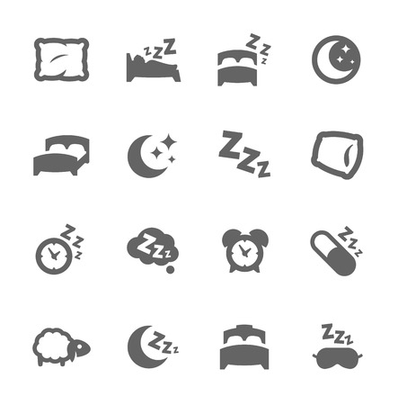 bedroom: Sleep Well Icons