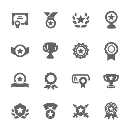 Awards Icons Stock Vector - 33025153