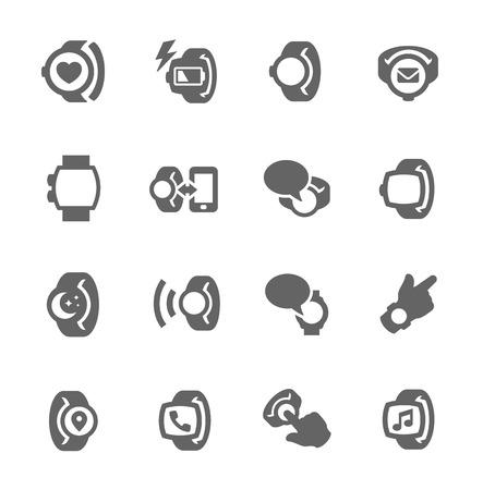 wristwatch: Smart Watch Icons Illustration