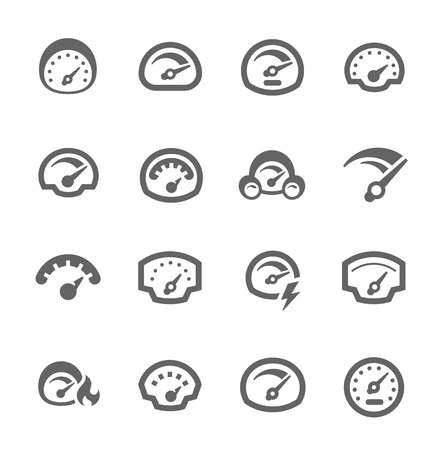 Speedometer Icons Vector