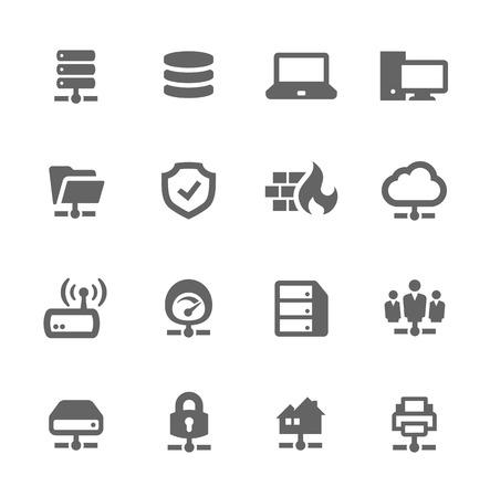 Icone di rete e server Archivio Fotografico - 33557070