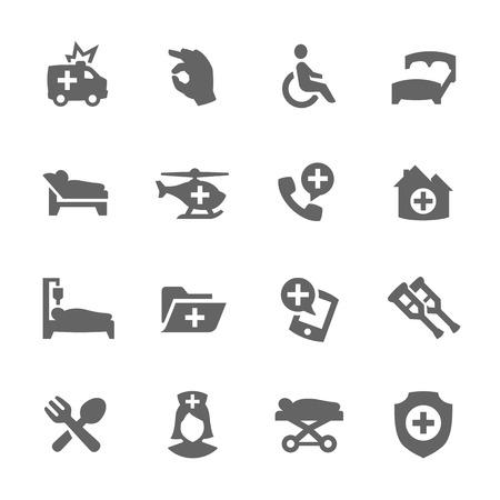 Medical Transportation Icons Illustration